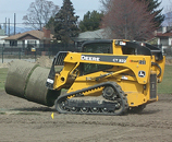 bobcat moving big roll sod kelowna