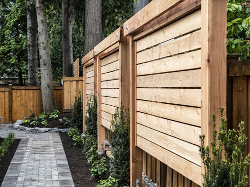 fence and paving stone patio vancouver