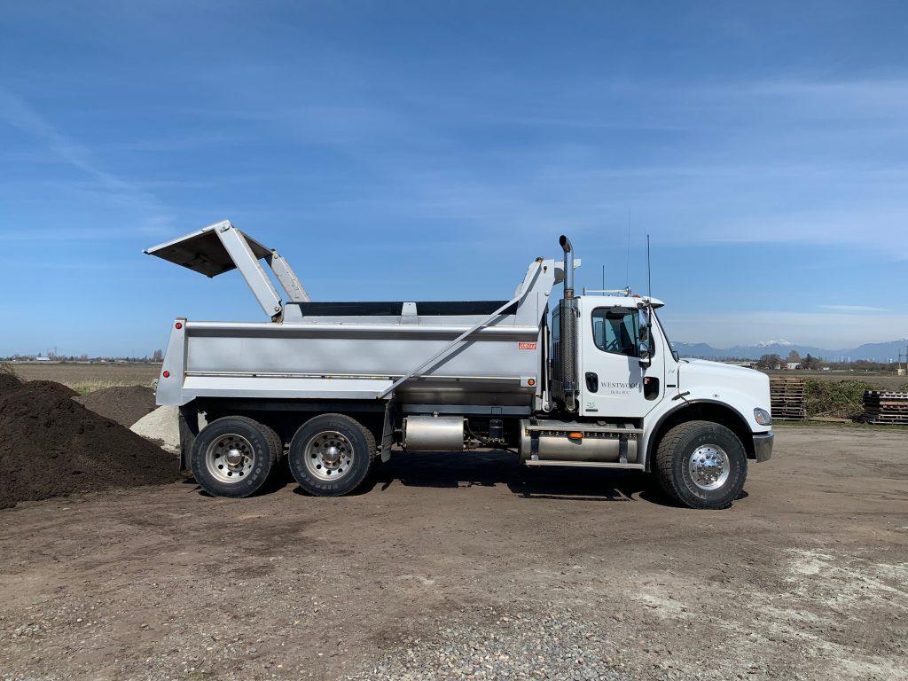 landscape delivery truck