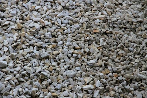 White rock gravel